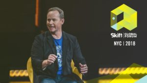 Expedia President and CEO Mark Okerstrom at Skift Global Forum 2018